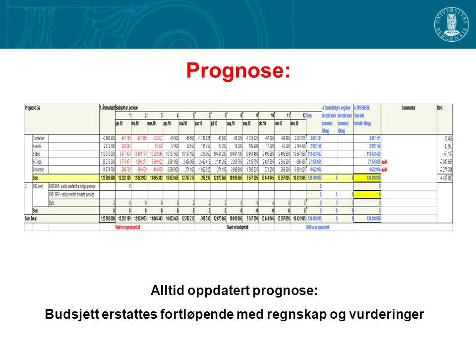 Prognose: Alltid oppdatert prognose: