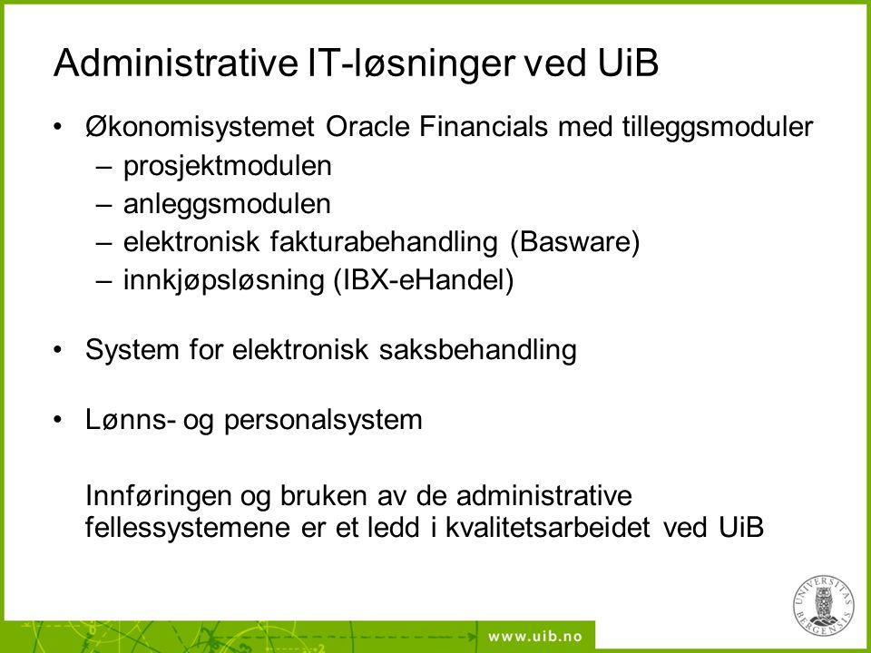 Administrative IT-løsninger ved UiB