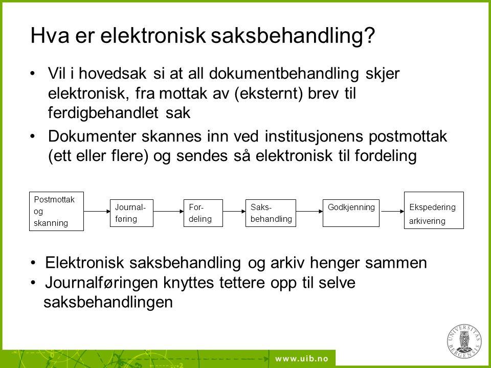 Hva er elektronisk saksbehandling