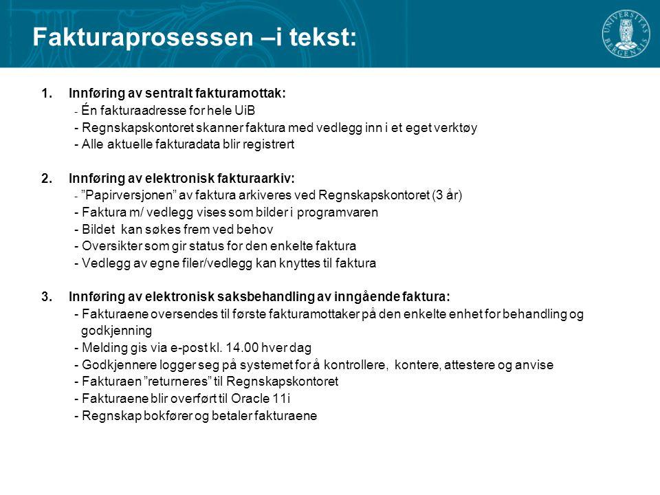 Fakturaprosessen –i tekst: