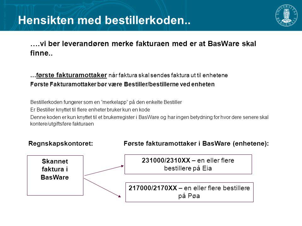Skannet faktura i BasWare