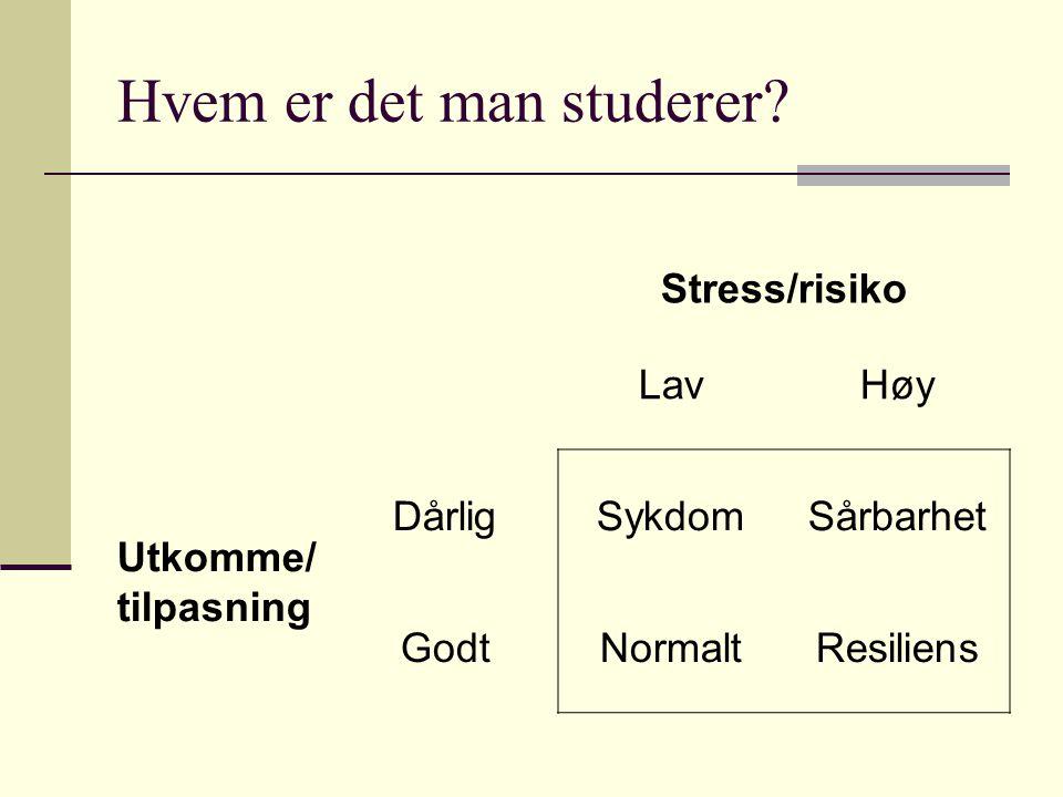 Hvem er det man studerer
