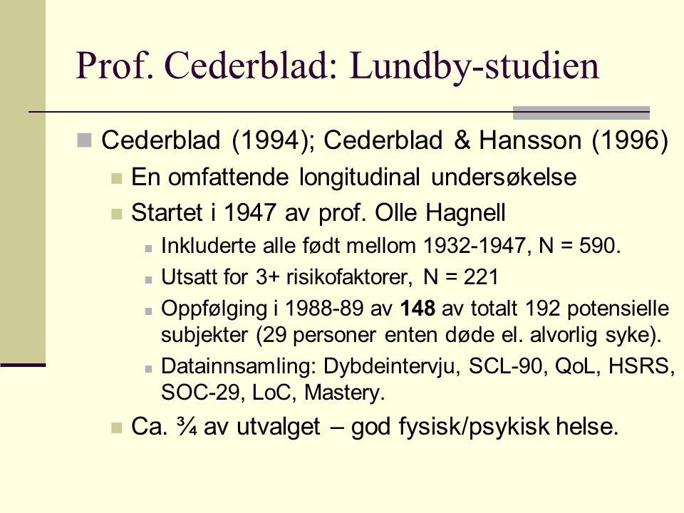 Prof. Cederblad: Lundby-studien