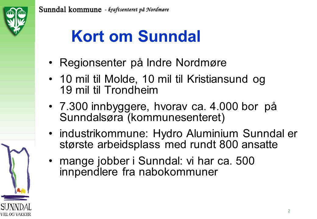 Kort om Sunndal Regionsenter på Indre Nordmøre