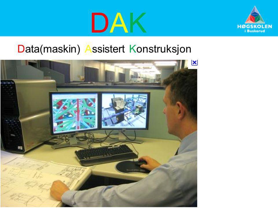 Data(maskin) Assistert Konstruksjon