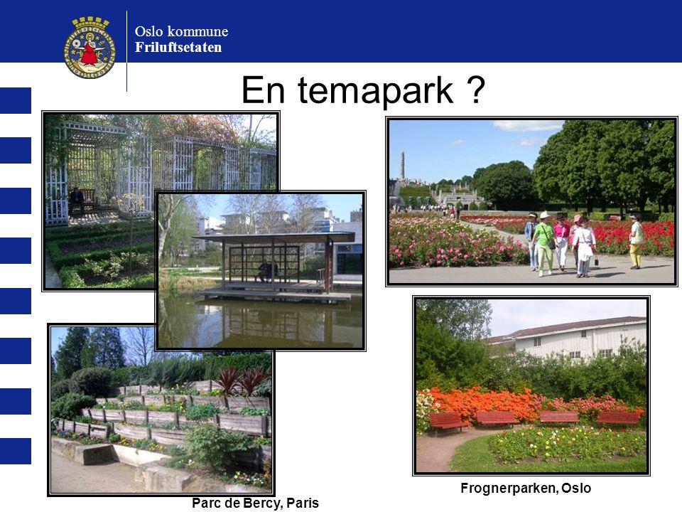 En temapark Oslo kommune Friluftsetaten Frognerparken, Oslo