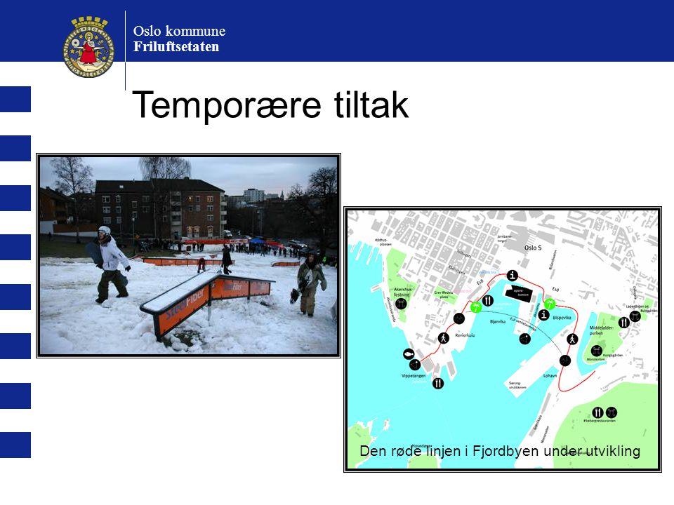 Temporære tiltak Oslo kommune Friluftsetaten