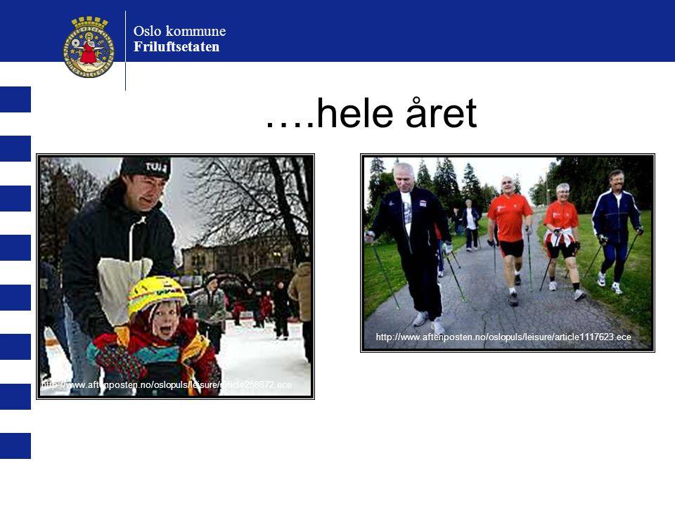 ….hele året Oslo kommune Friluftsetaten