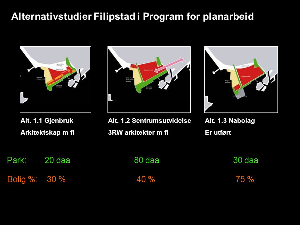 Alternativstudier Filipstad i Program for planarbeid