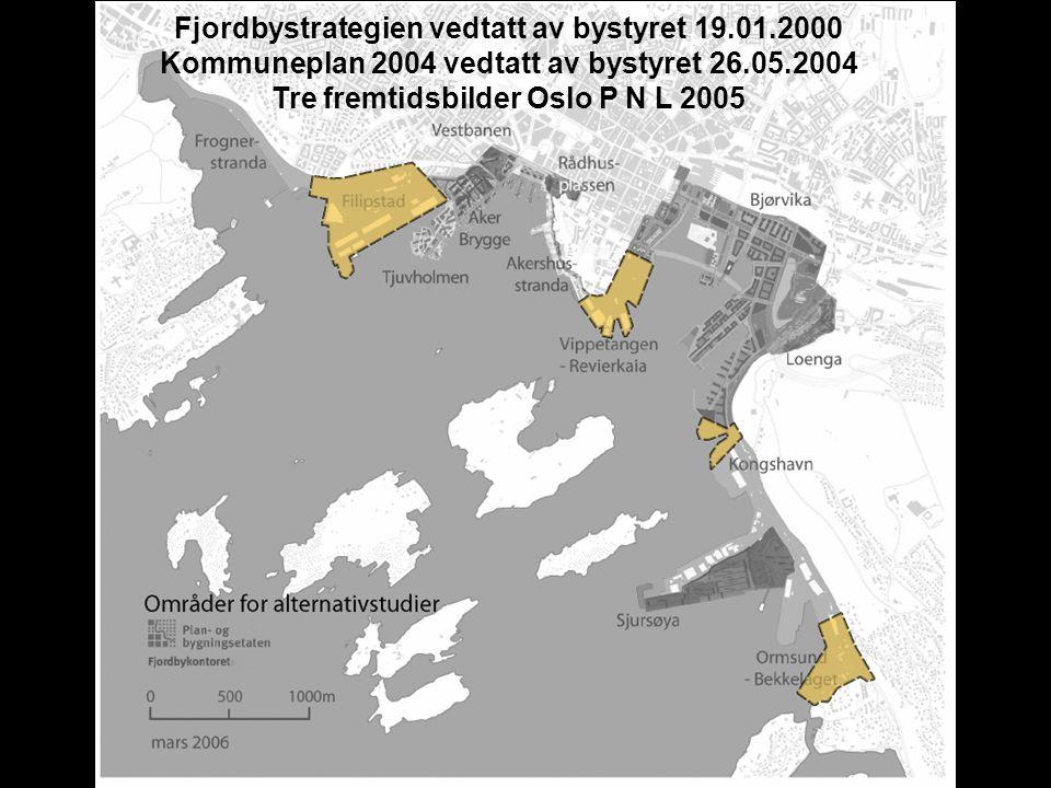 Fjordbystrategien vedtatt av bystyret 19.01.2000