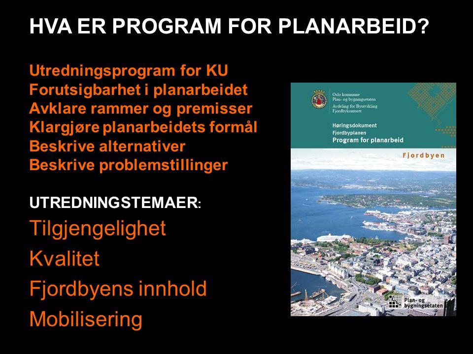 HVA ER PROGRAM FOR PLANARBEID