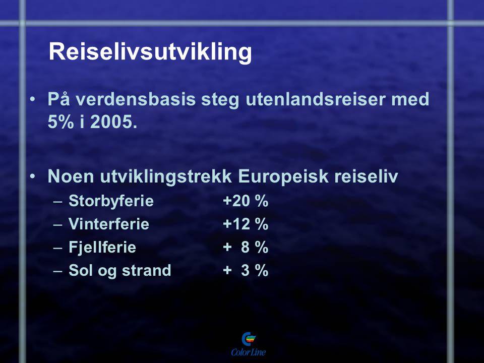 Reiselivsutvikling På verdensbasis steg utenlandsreiser med 5% i 2005.