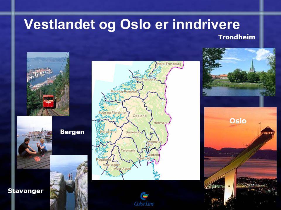 Vestlandet og Oslo er inndrivere