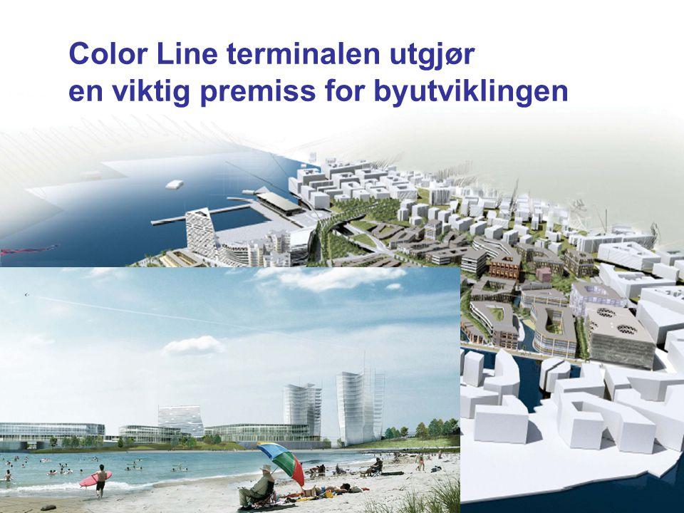 Color Line terminalen utgjør en viktig premiss for byutviklingen