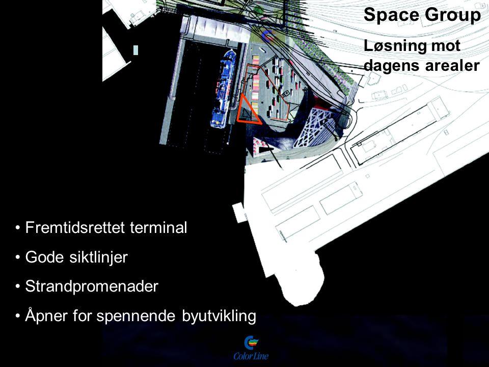 Space Group Løsning mot dagens arealer Fremtidsrettet terminal