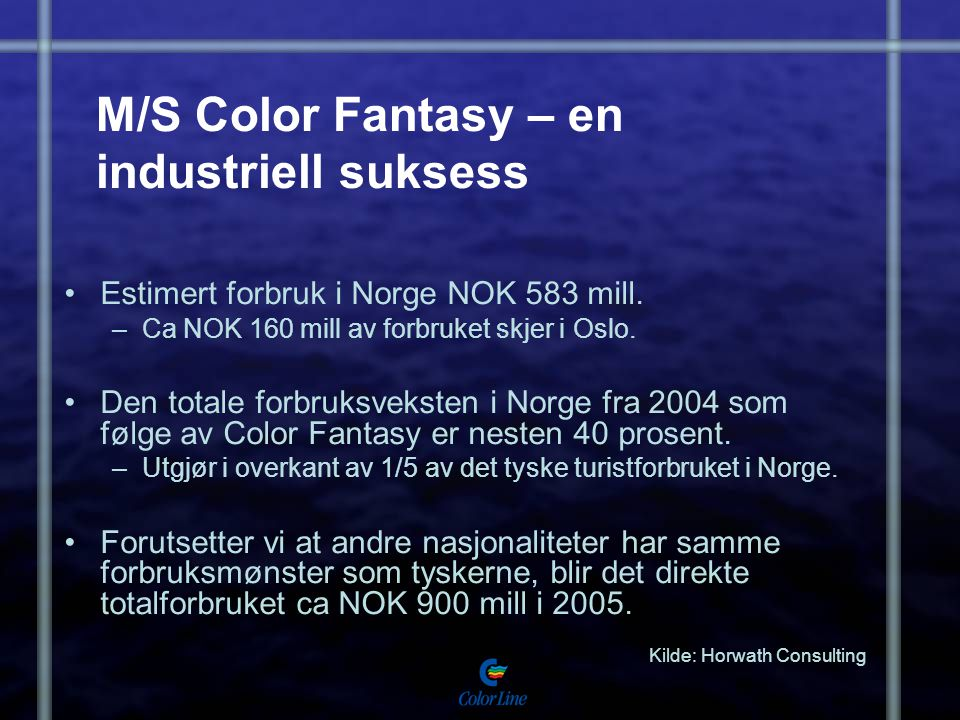 M/S Color Fantasy – en industriell suksess