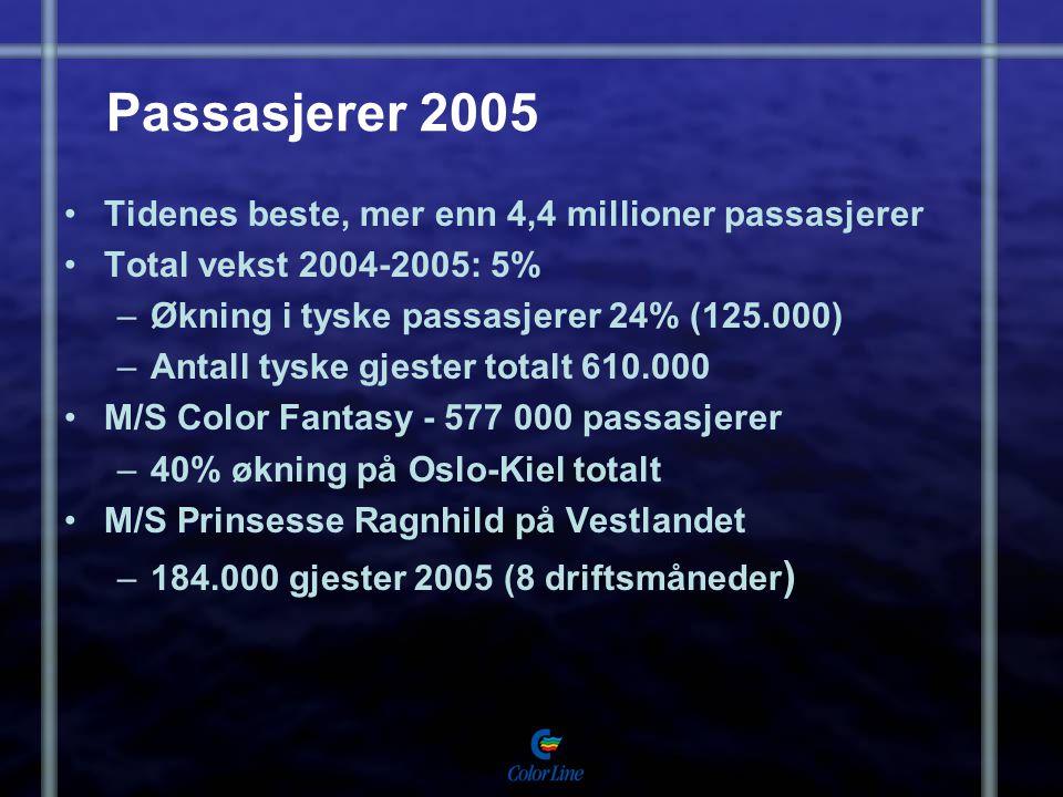 Passasjerer 2005 Tidenes beste, mer enn 4,4 millioner passasjerer