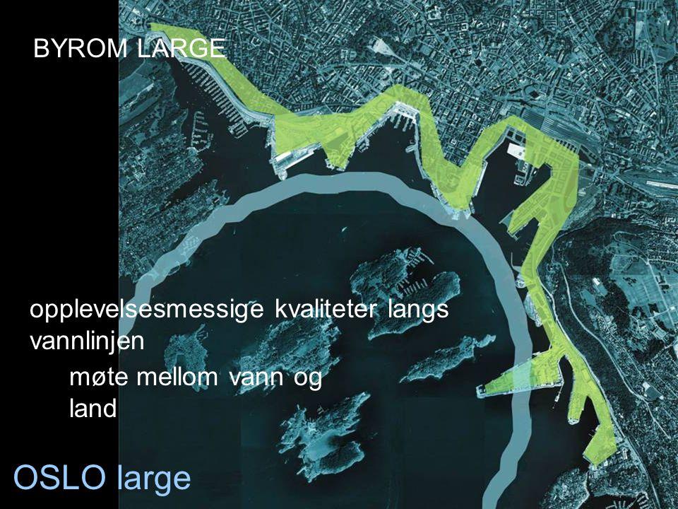 OSLO large BYROM LARGE opplevelsesmessige kvaliteter langs vannlinjen
