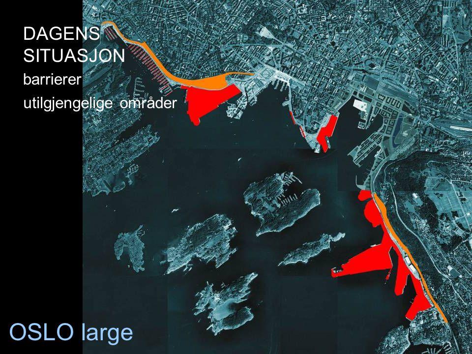DAGENS SITUASJON barrierer utilgjengelige områder OSLO large