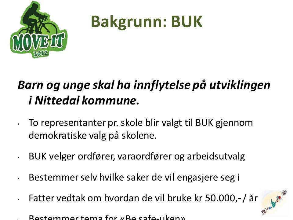 2 Bakgrunn: BUK. Barn og unge skal ha innflytelse på utviklingen i Nittedal kommune.