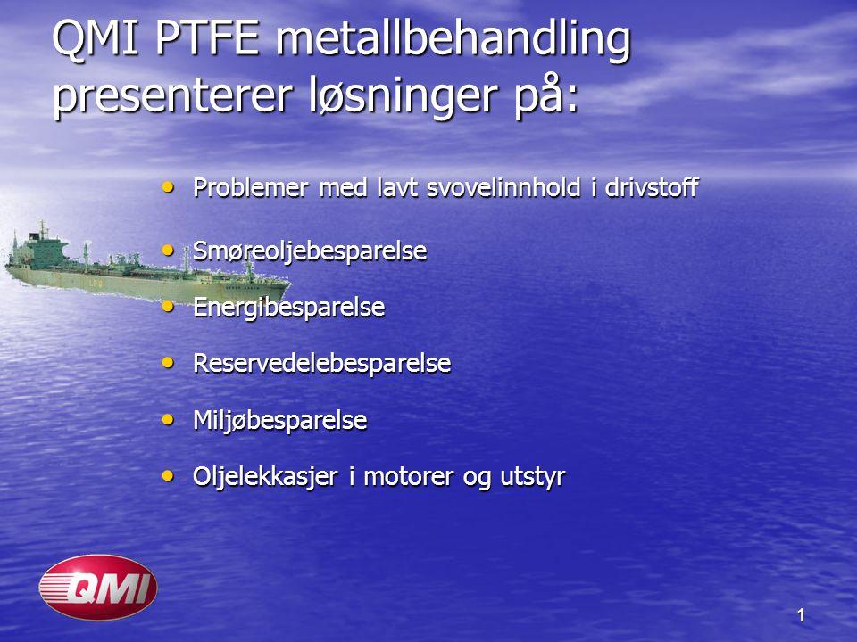 QMI PTFE metallbehandling presenterer løsninger på: