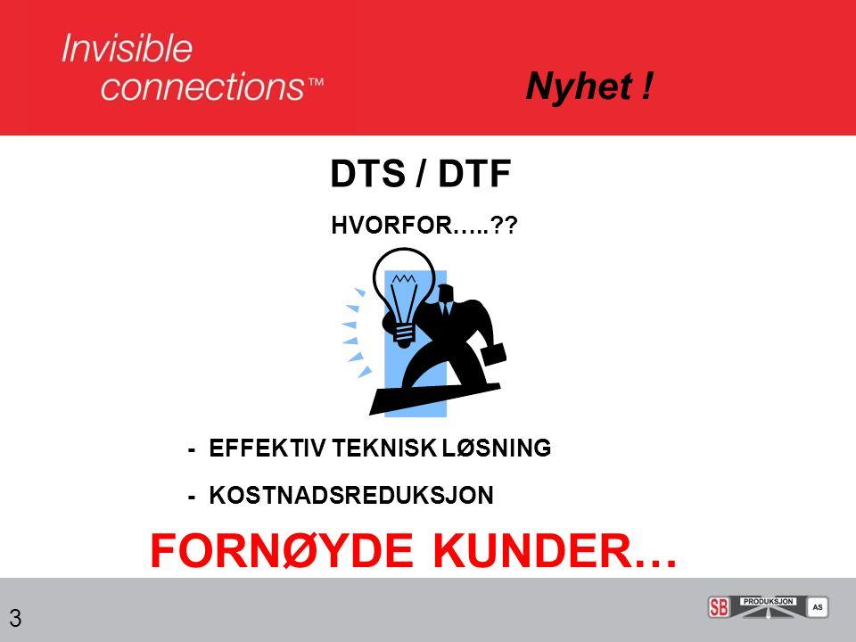 FORNØYDE KUNDER… Nyhet ! DTS / DTF HVORFOR…..