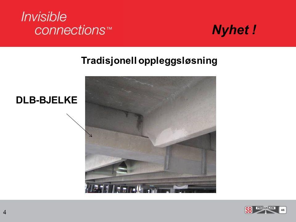 Nyhet ! Tradisjonell oppleggsløsning DLB-BJELKE