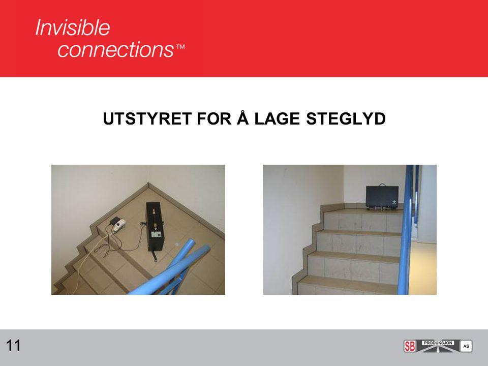 UTSTYRET FOR Å LAGE STEGLYD
