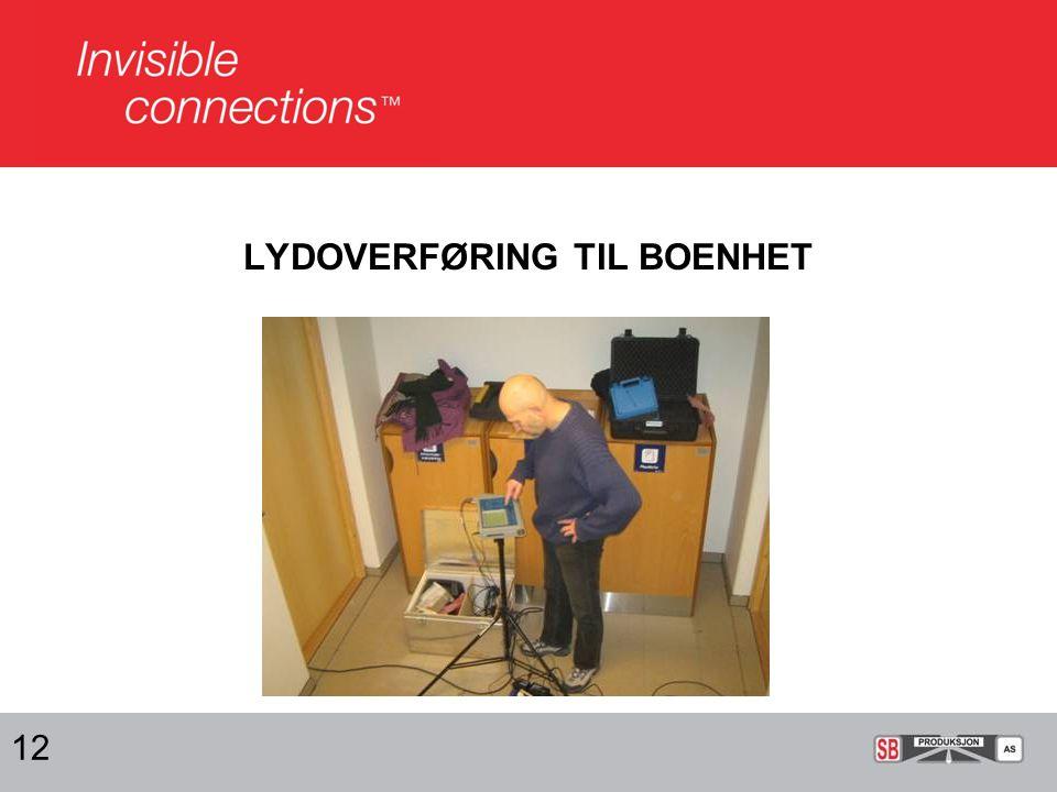 LYDOVERFØRING TIL BOENHET