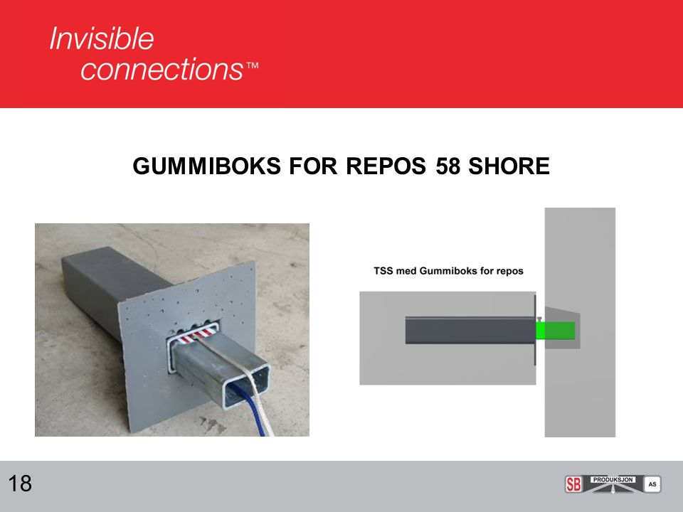 GUMMIBOKS FOR REPOS 58 SHORE