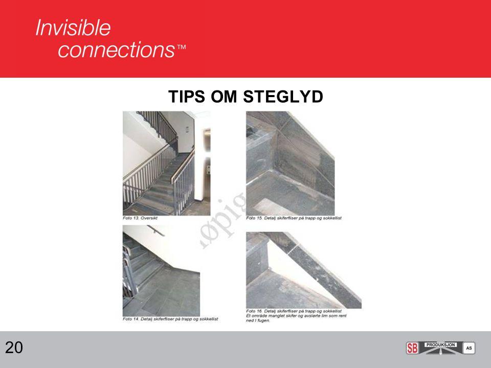 TIPS OM STEGLYD 20