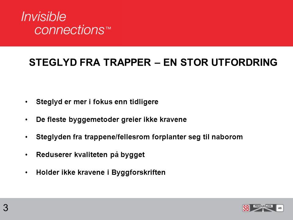 STEGLYD FRA TRAPPER – EN STOR UTFORDRING