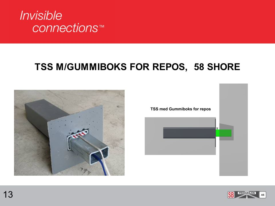 TSS M/GUMMIBOKS FOR REPOS, 58 SHORE