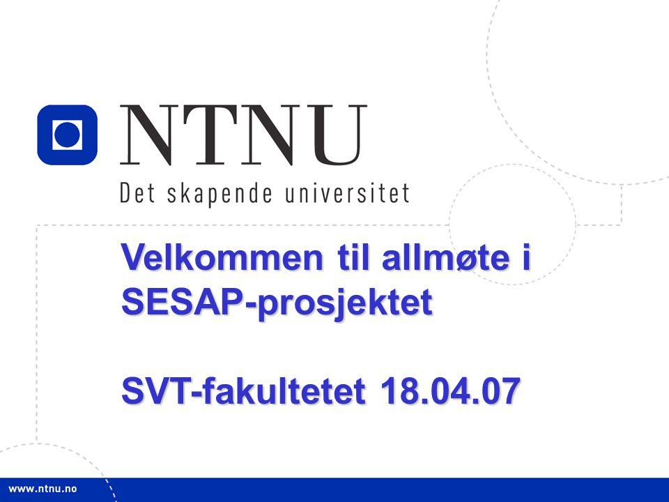 Velkommen til allmøte i SESAP-prosjektet
