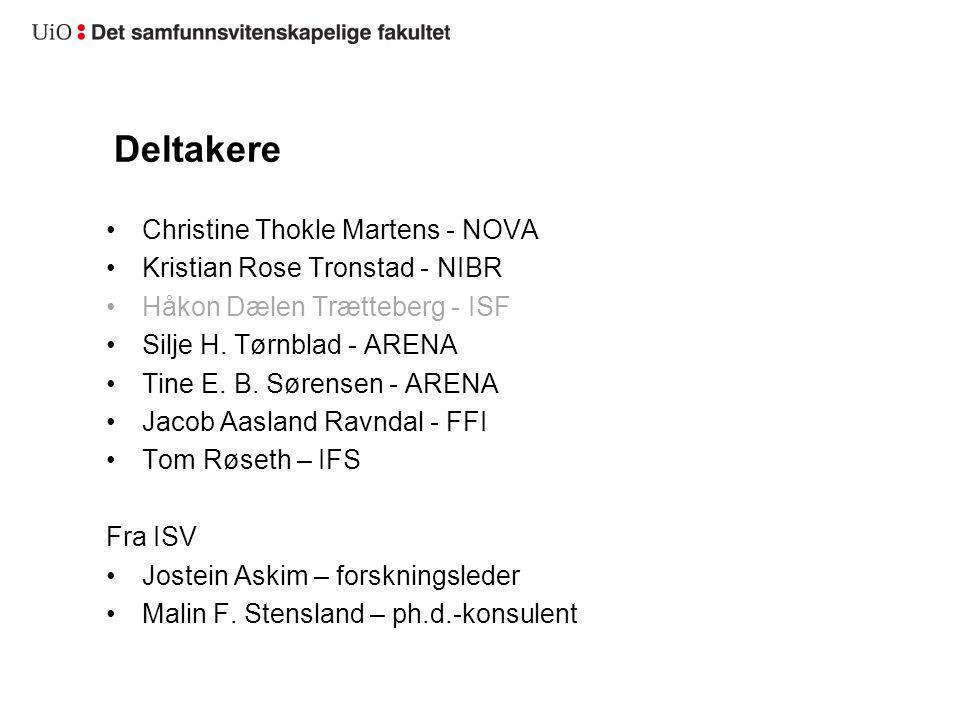 Deltakere Christine Thokle Martens - NOVA