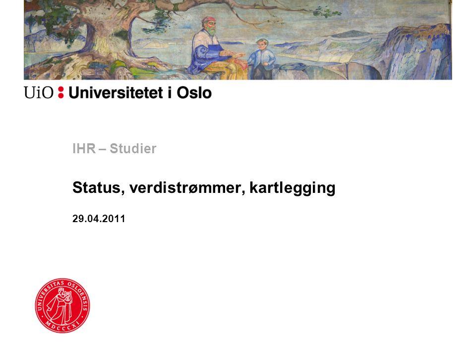 Status, verdistrømmer, kartlegging 29.04.2011