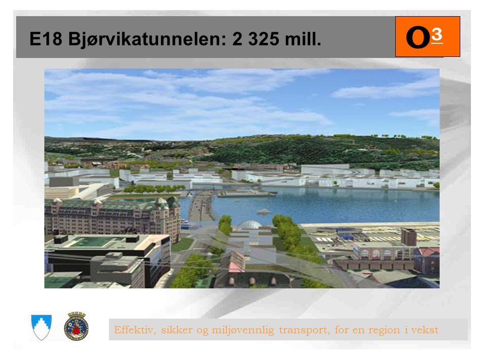 E18 Bjørvikatunnelen: 2 325 mill.