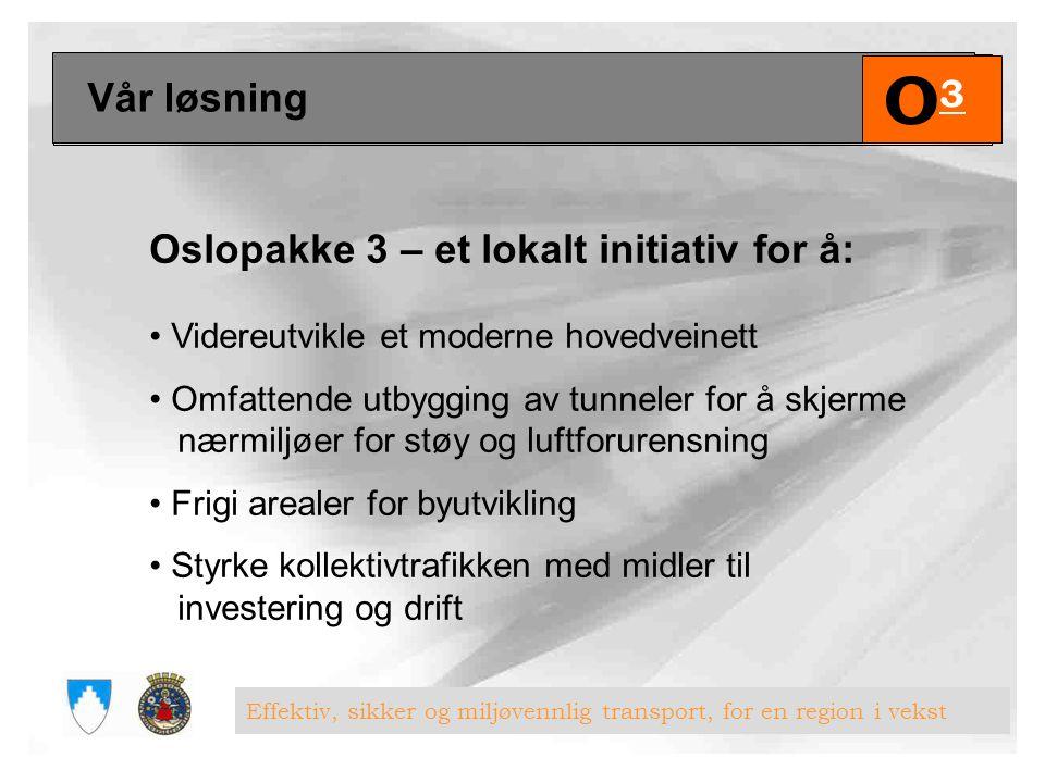 O3 Vår løsning Oslopakke 3 – et lokalt initiativ for å: