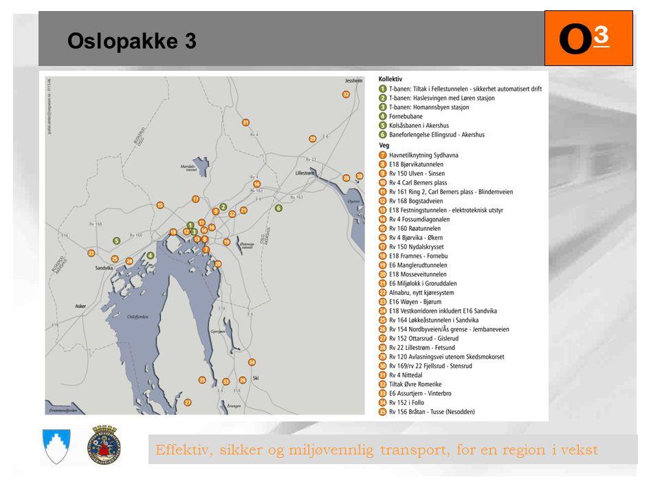 O3 Oslopakke 3 Effektiv, sikker og miljøvennlig transport, for en region i vekst