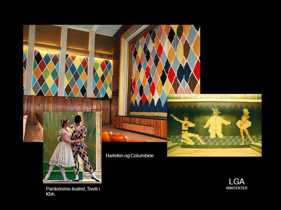 Harlekin og Columbine LGA ARKITEKTER Pantomime-teatret, Tivoli i Kbh.
