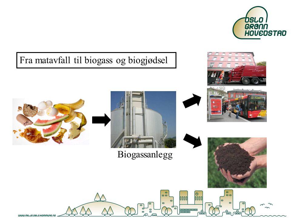 Fra matavfall til biogass og biogjødsel