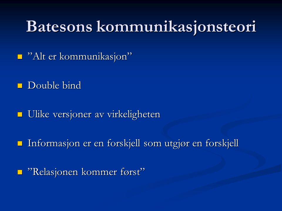 Batesons kommunikasjonsteori
