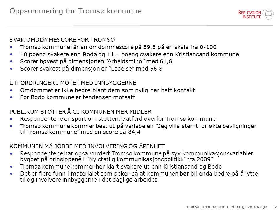 Oppsummering for Tromsø kommune
