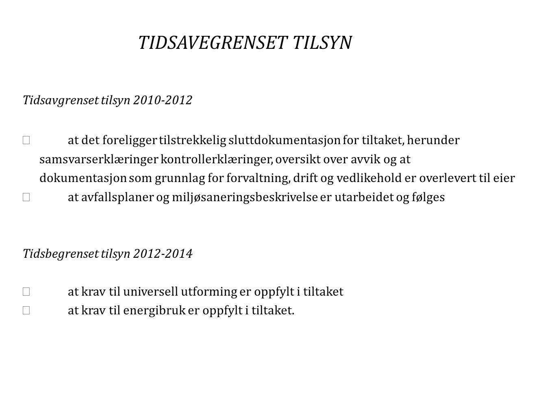TIDSAVEGRENSET TILSYN