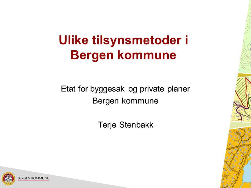 Ulike tilsynsmetoder i Bergen kommune