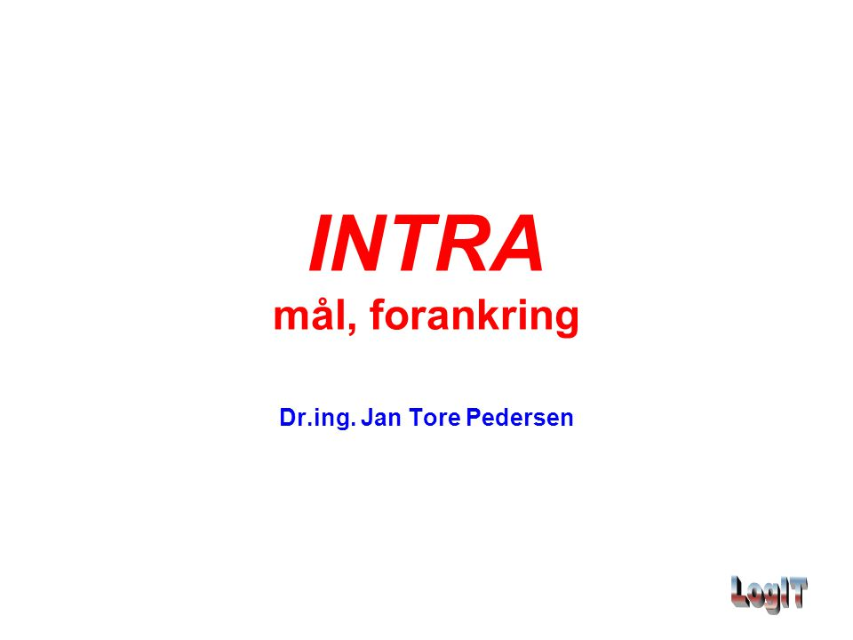 Dr.ing. Jan Tore Pedersen