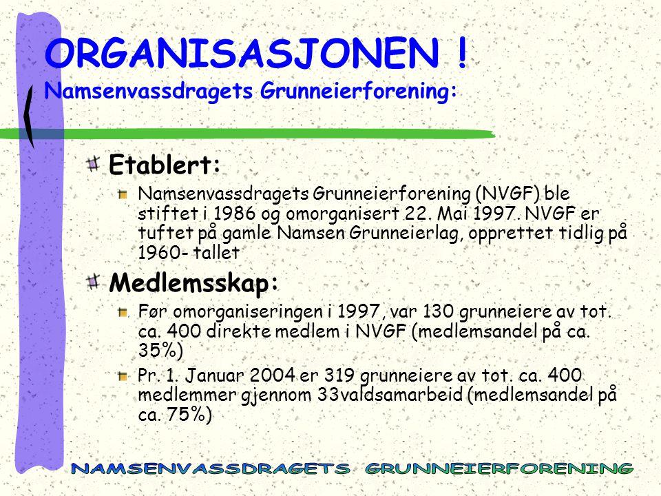 ORGANISASJONEN ! Namsenvassdragets Grunneierforening: