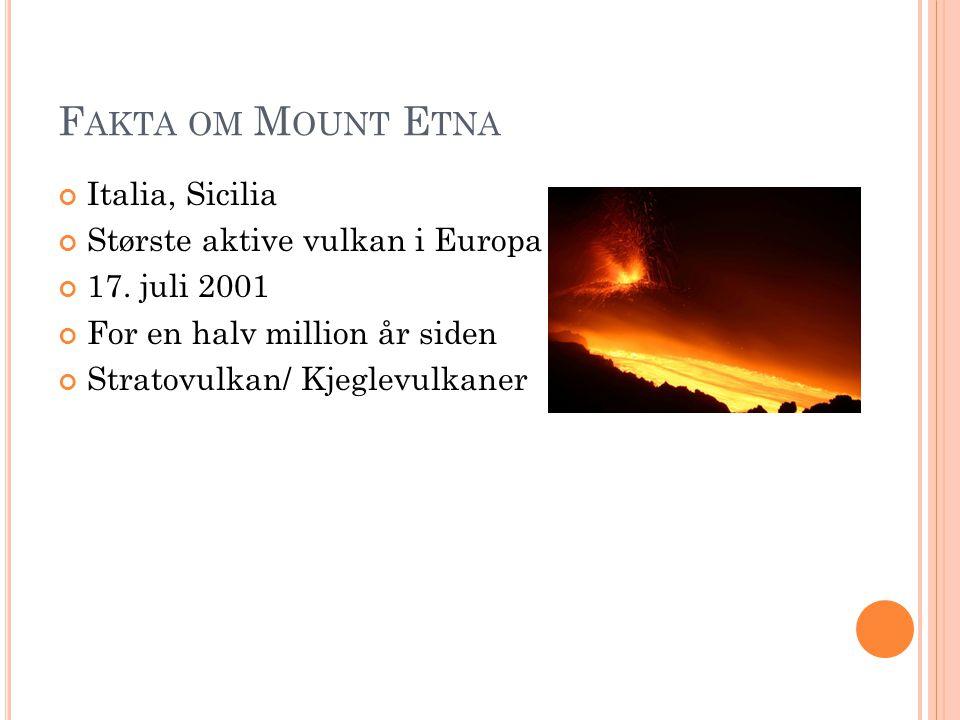 Fakta om Mount Etna Italia, Sicilia Største aktive vulkan i Europa