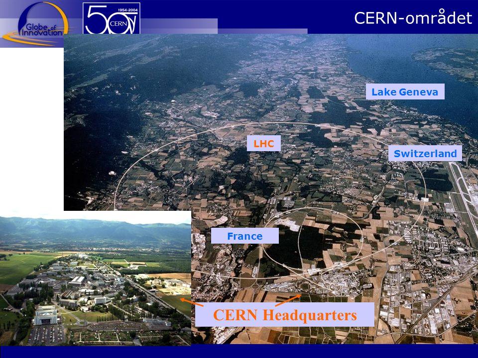 CERN-området Lake Geneva LHC Switzerland France CERN Headquarters