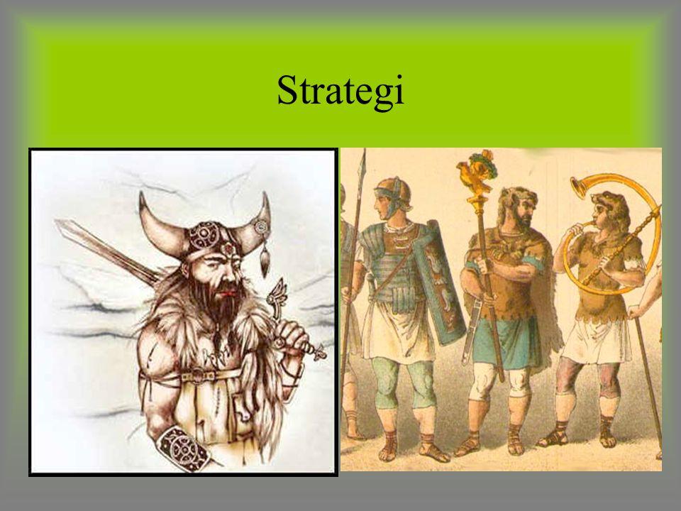 Strategi ROMERENE: Hadde god strategi. Gikk formert i grupper.